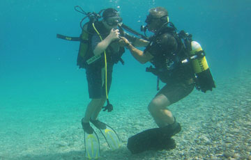 Diving accessibile per disabili